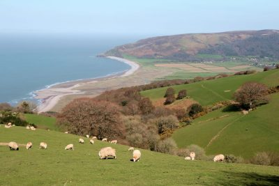View over Porlock Bay and Exmoor